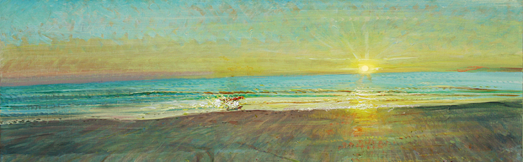 'FRISKY DOG AT SCARBOROUGH: EASTER DAWN'