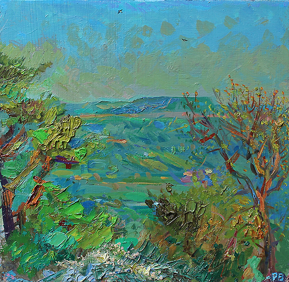 'Addlebrough on cloudless May evening'