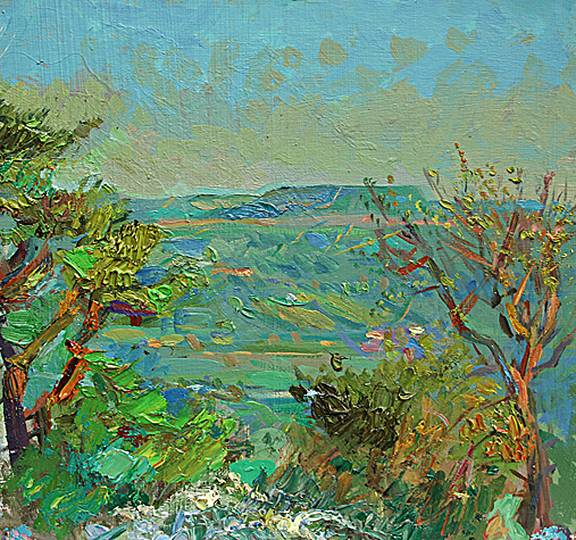 'ADDLEBROUGH ON A CLOUDLESS SPRING EVENING''