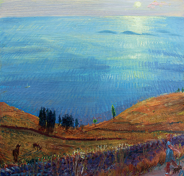 'THE AEGEAN FROM TINOS: SUMMER SUNSET'