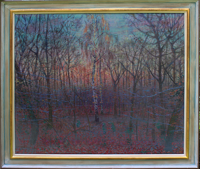 'NEW YEAR'S DAY: BURNHAM BEECHES, DUSK'