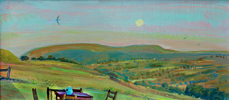 THE GREEN JUG: FULL JULY MOON WITH PENHILL