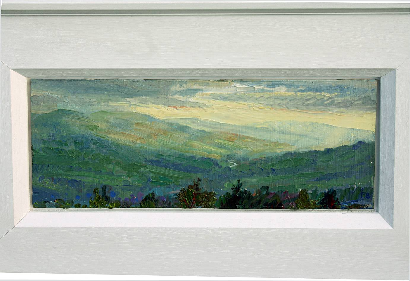 ''GENTLE SUMMER SUNSET: TOWARDS UPPER WENSLEYDALE''