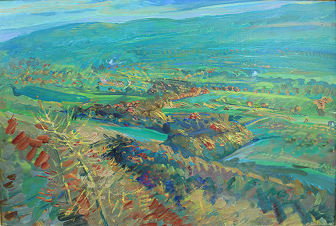 GOLDEN LARCH, SILVER RIVER: WENSLEYDALE
