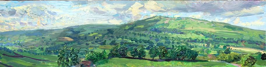 'JULY EVENING FROM CUBECK, WENSLEYDALE'