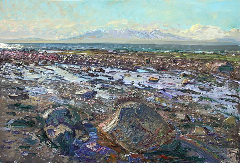 'LAST SNOW ON ARRAN: HOT MARCH EVENING'