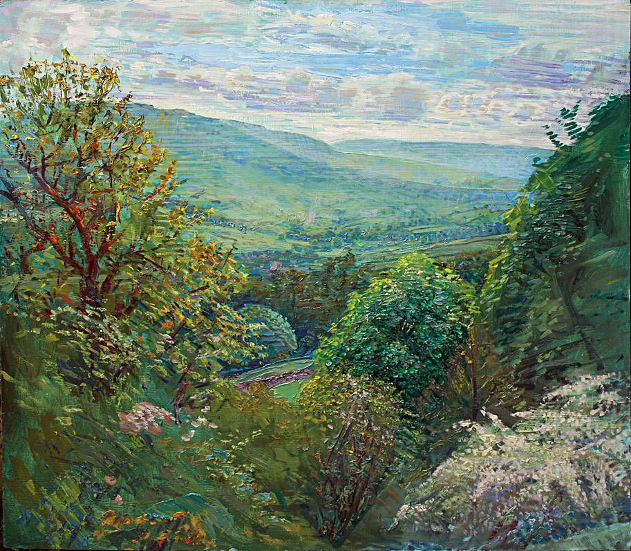 'MAY AFTERNOON WITH HAWTHORNBLOSSOM: TOWARDS UPPER WENSLEYDALE'