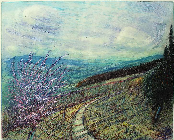 'MAY PLUM BLOSSON TOWARDS UPPER WENSLEYDALE'