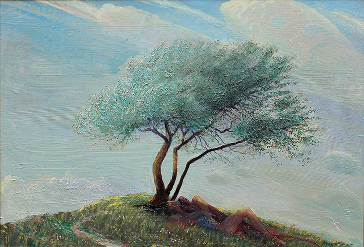 'MYRTLE TREE WITH LOVERS BENEATH'
