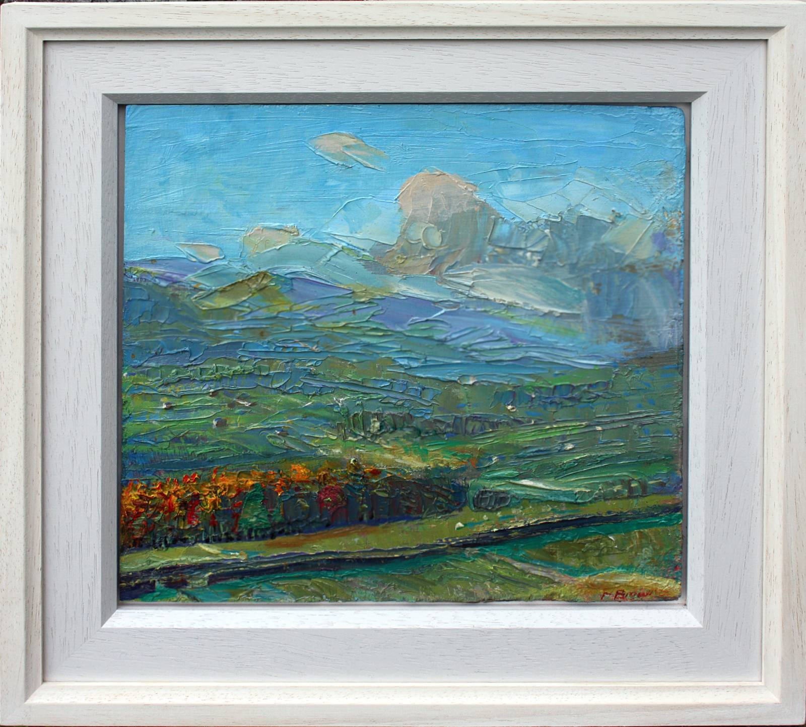 'NOVEMBER DAWN: ASKRIGG LIT UP, WENSLEYDALE'