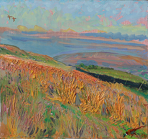 'BALMY EASTER EVENING: TOWARDS PENHILL, WENSLEYDALE'