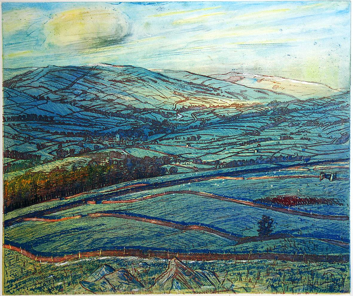 'SPRING DAWN: UPPER WENSLEYDALE FROM ELLERKIN'