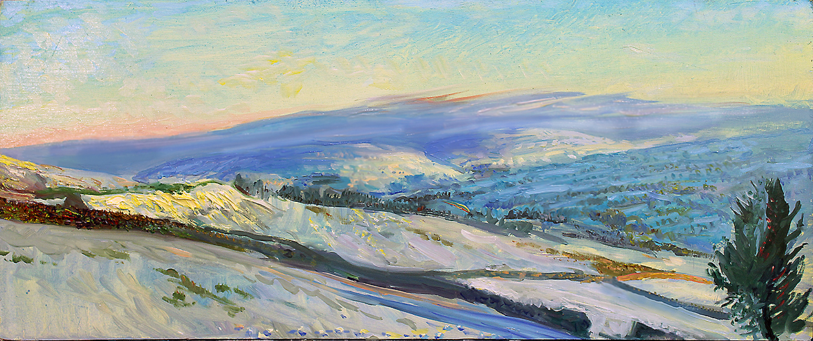 ''RADIANT SNOW, PENHILL IN DISTANCE: WENSLEYDALE'