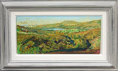 'SEMERWATER, ADDLEBROUGH BEYOND, FROM BARDALE BECK: AUGUST SUNSET'