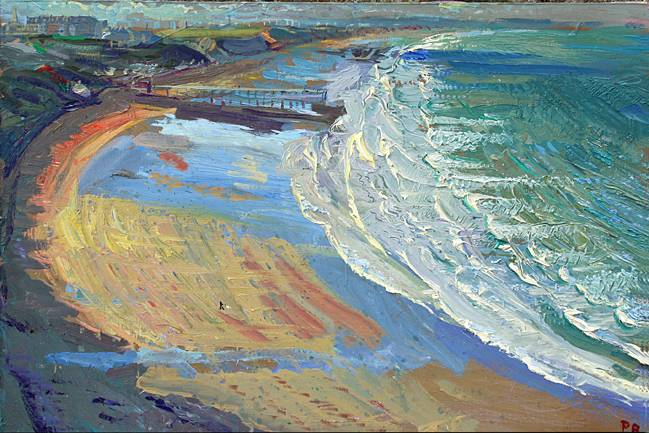 'FEBRUARY ICY WIND DOWN SALTBURN BEACH'