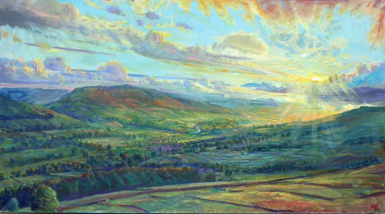 September Sunburst over upper Wensleydale