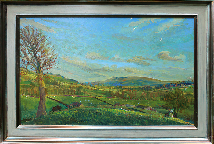 ''TOWARDS PENHILL FROM ASKRIGG, EARLY SPRING''