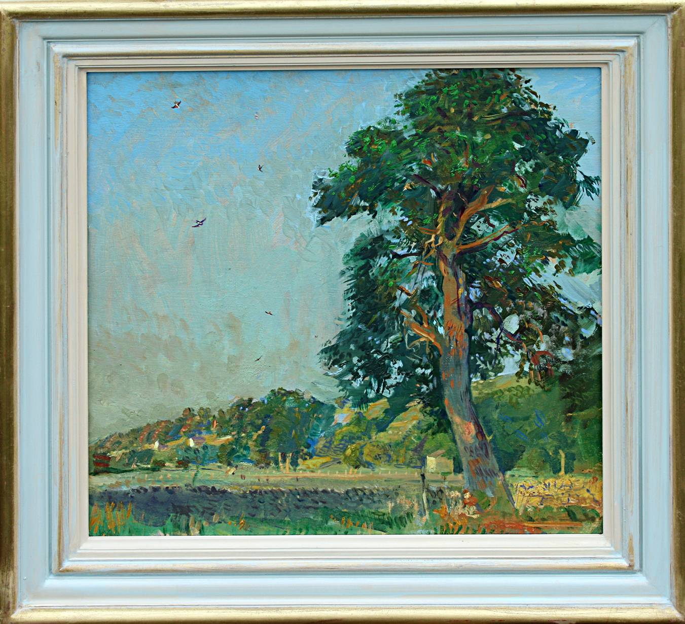 ''SWALLOWS & SCOTS PINE: West Burton, Wensleydale''