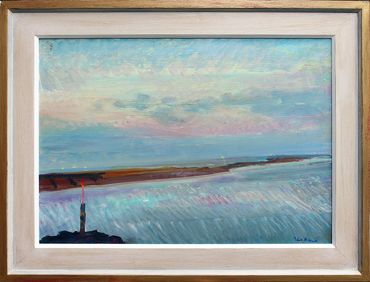 'MAY DUSK: FROM YACHT HARBOUR, FELIXSTOWE'
