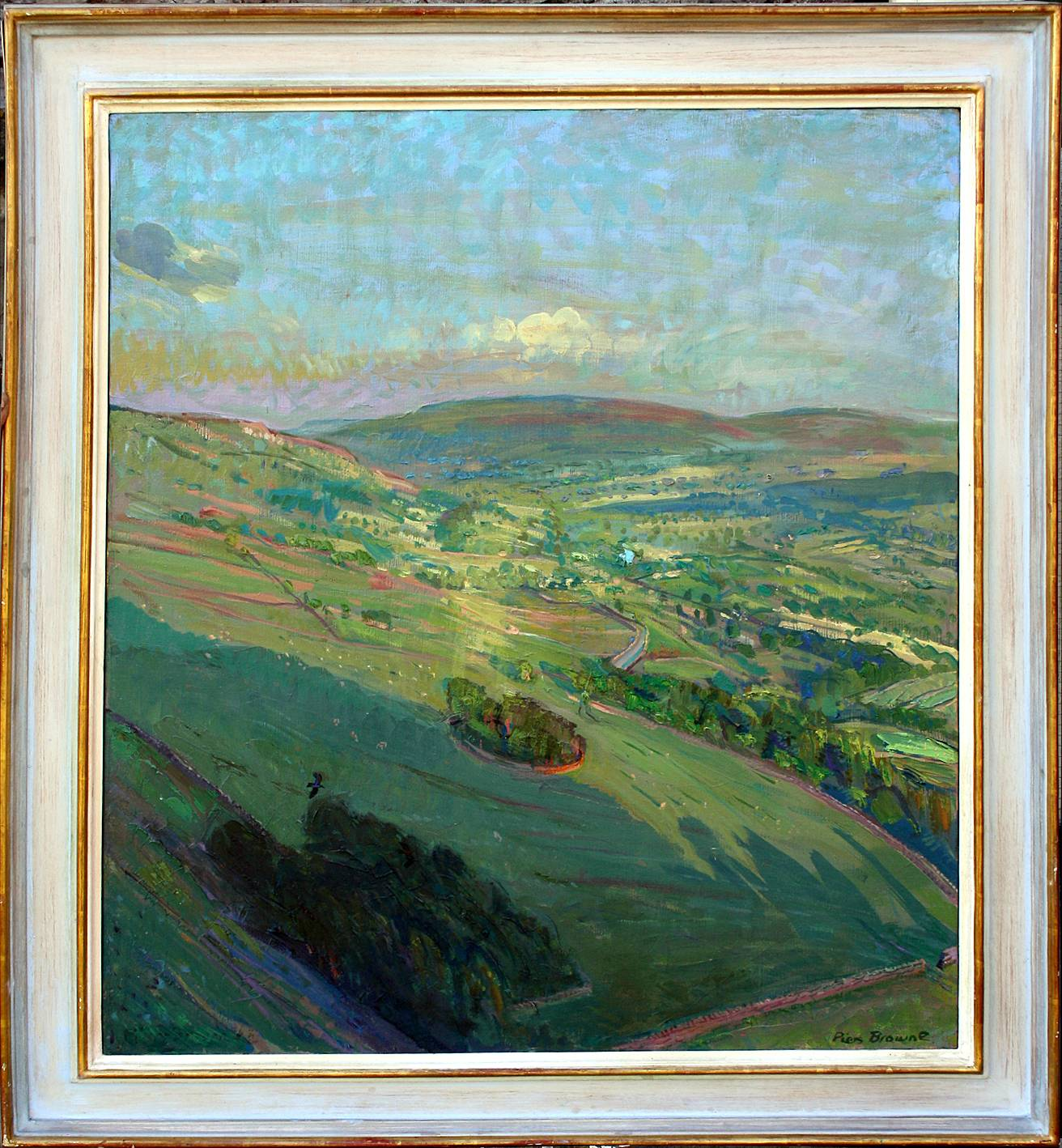 'EVENING SUNBURST OVER WENSLEYDALE AT HAYTIME, FROM WHITFIELD SCAR'
