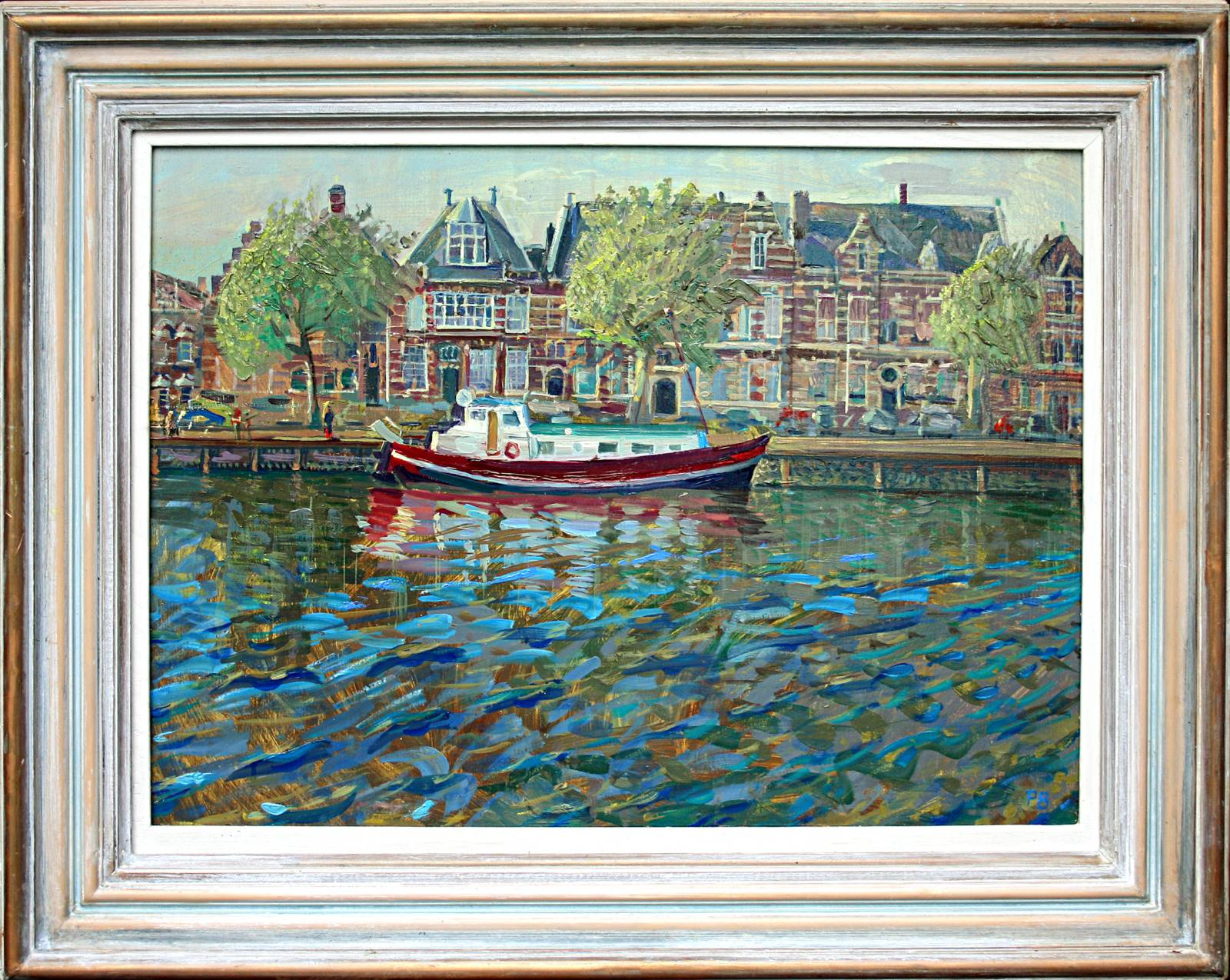 'BARGE AT MIDDLEBURG, HOLLAND'