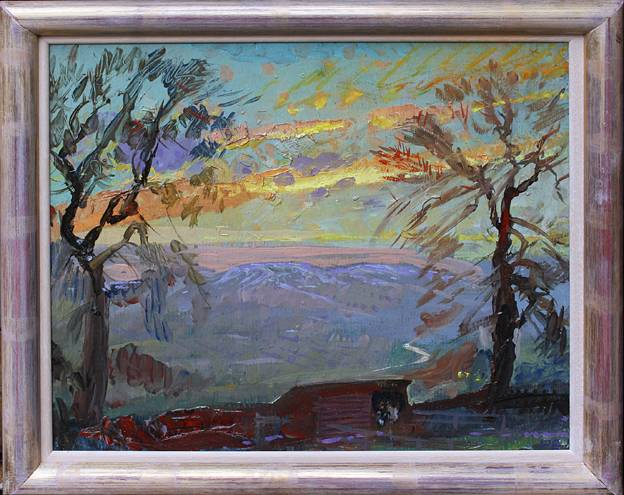 Winter Sunset - with Donkeys bedded in