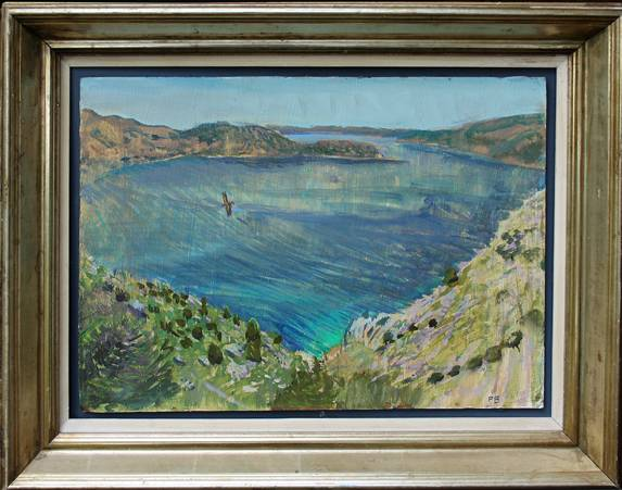 'A SOUTH WEST TURKISH BAY: SUMMER MORNING WITH EAGLE'
