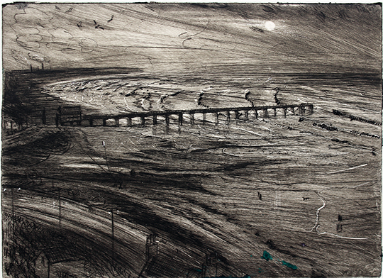 ''KITE FLYING: WINDY SUMMER EVENING, SALTBURN-ON-SEA''