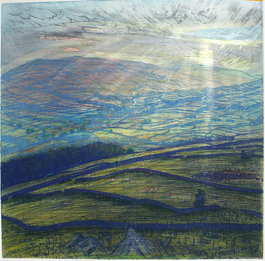 ''SPRING EVENING: UPPER WENSLEYDALE FROM ELLERKIN''