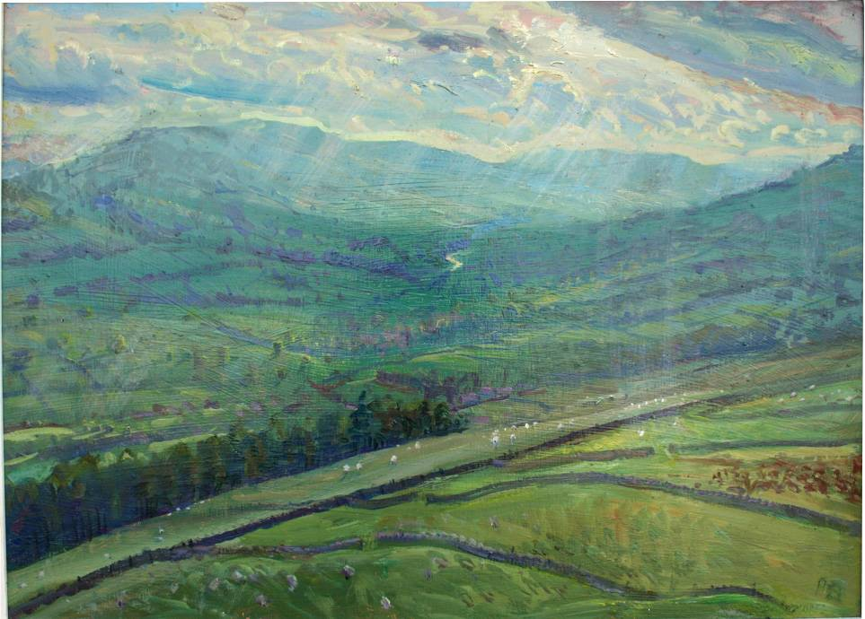 Towards Upper Wensleydale: April early evening