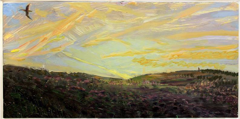 ''THE NIGHT OF THE LONGEST DAY: ASKRIGG MOOR WITH CURLEWS''