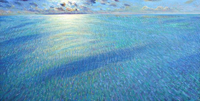 ''Though all can share this wave-caught sun...''