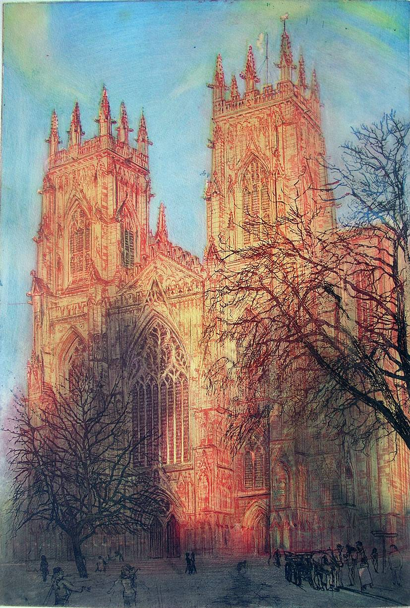 York Minster: December Evening Glow